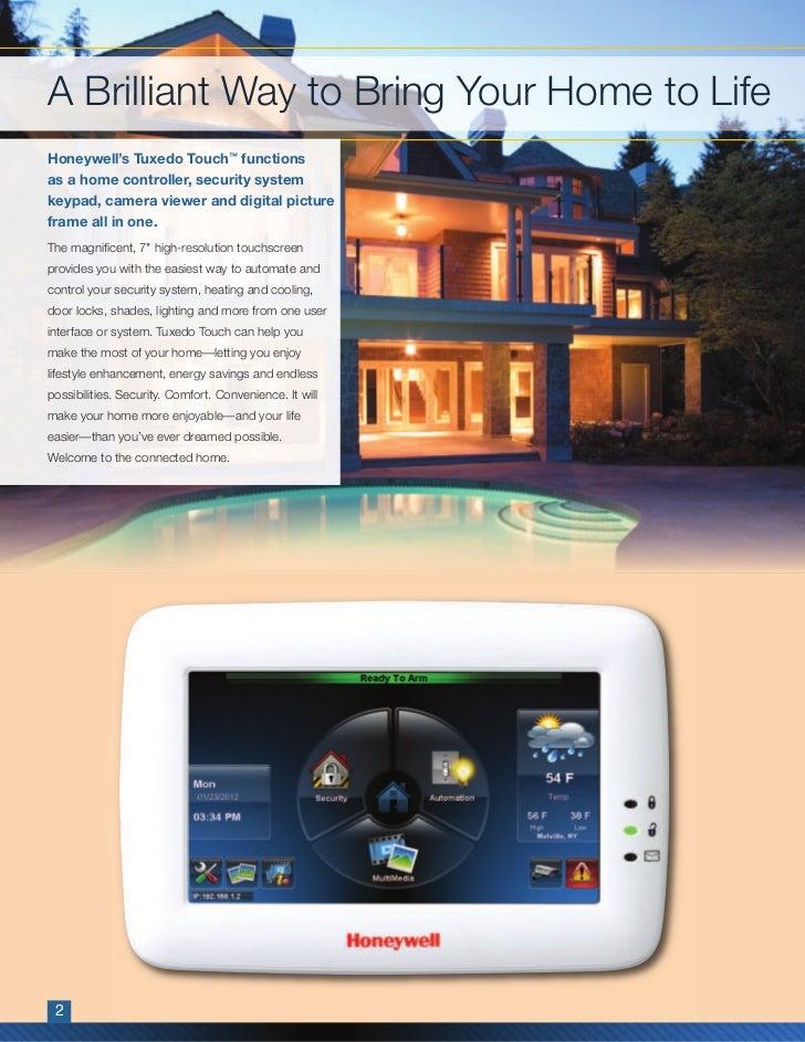 Honeywell Tuxedo Touch Residential Brochure