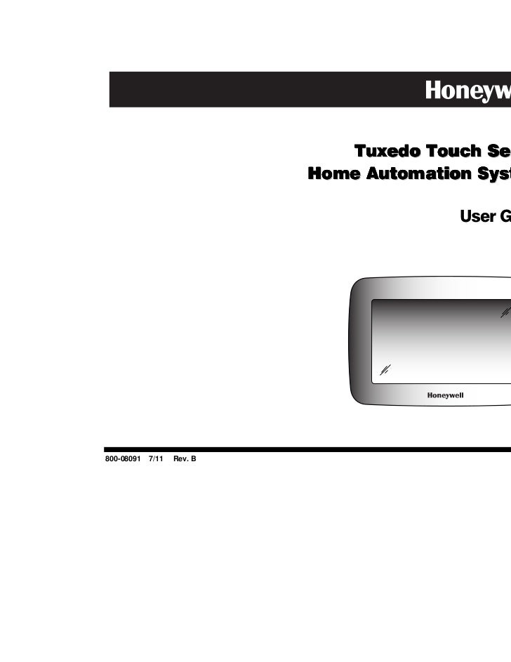 Tuxedo Touch Series                          Home Automation System                                        User Guide800-0...