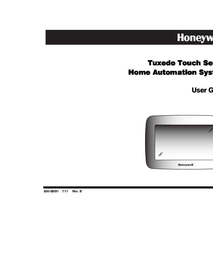 Honeywell Tuxedo Touch User Guide