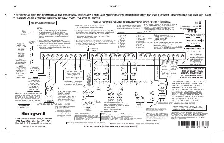 honeywell vista 128bpt connections summary rh slideshare net Wiring-Diagram Honeywell Vista 20 VISTA-128FBP Wiring-Diagram