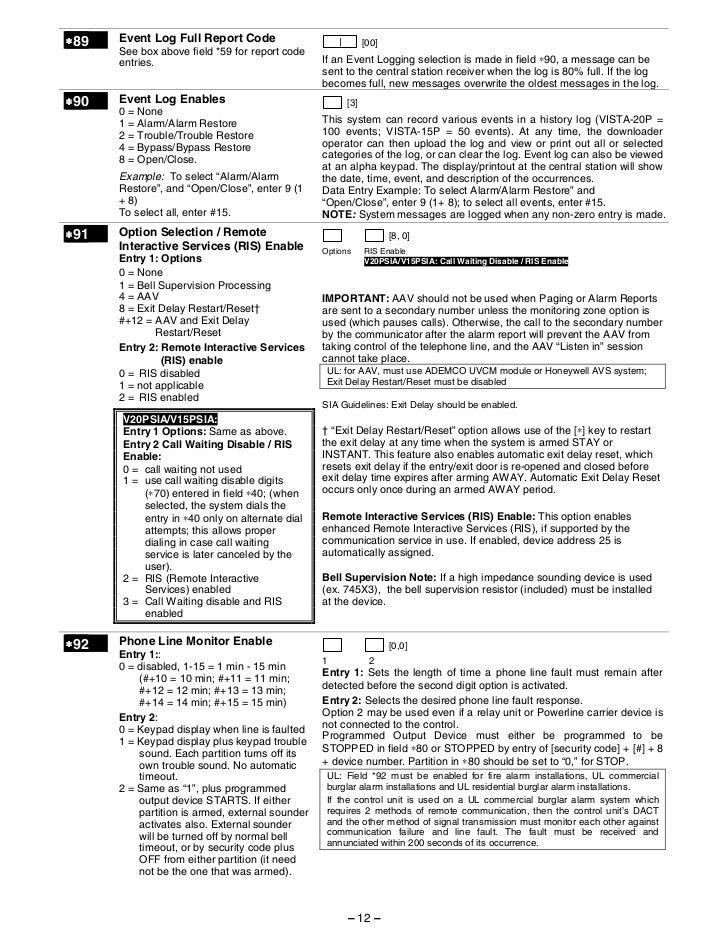 honeywell vista 15p honeywell vista 20p programming guide rh slideshare net ademco vista 20p programming guide vista 20p programming manual