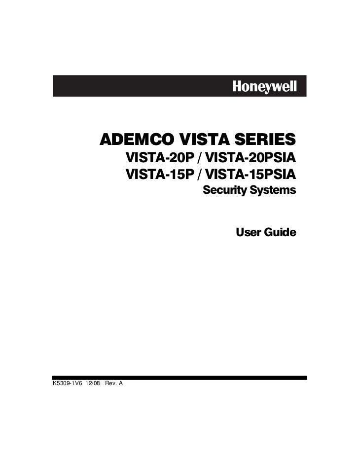 honeywell vista 15p honeywell vista 20p user guide rh slideshare net ademco vista 50p user manual ademco vista-128fb user manual