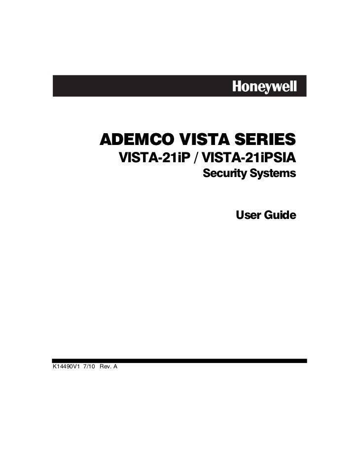 honeywell vista 21ip user guide