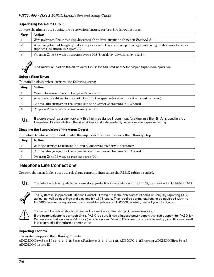 honeywell vista 50p install guide rh slideshare net ademco vista 50p user manual vista 50 programming manual