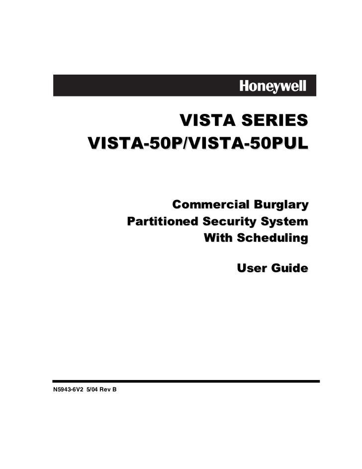 Honeywell vista-50p-user-guide