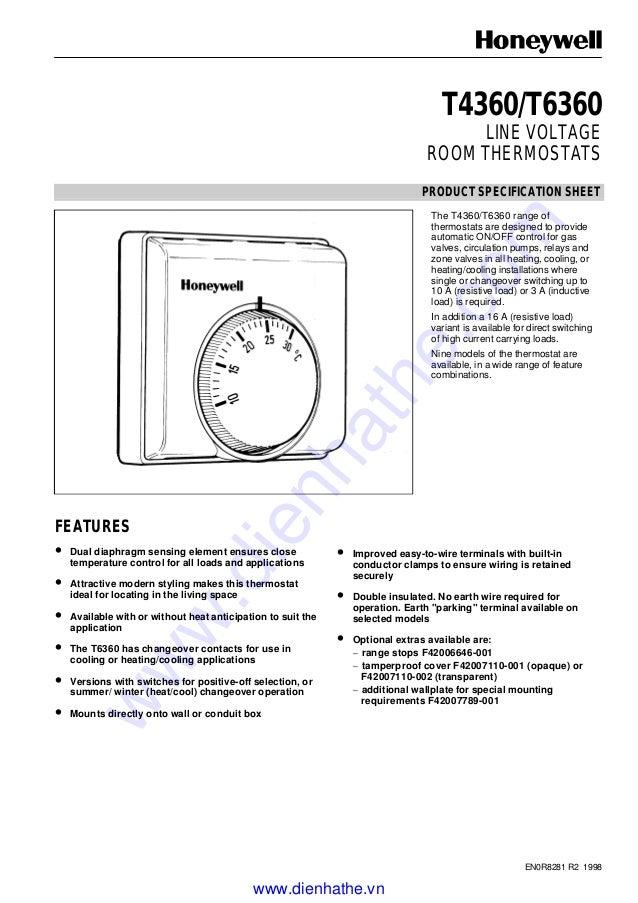 Honeywell catalog catalog thermostat-t6360-160919041321 on