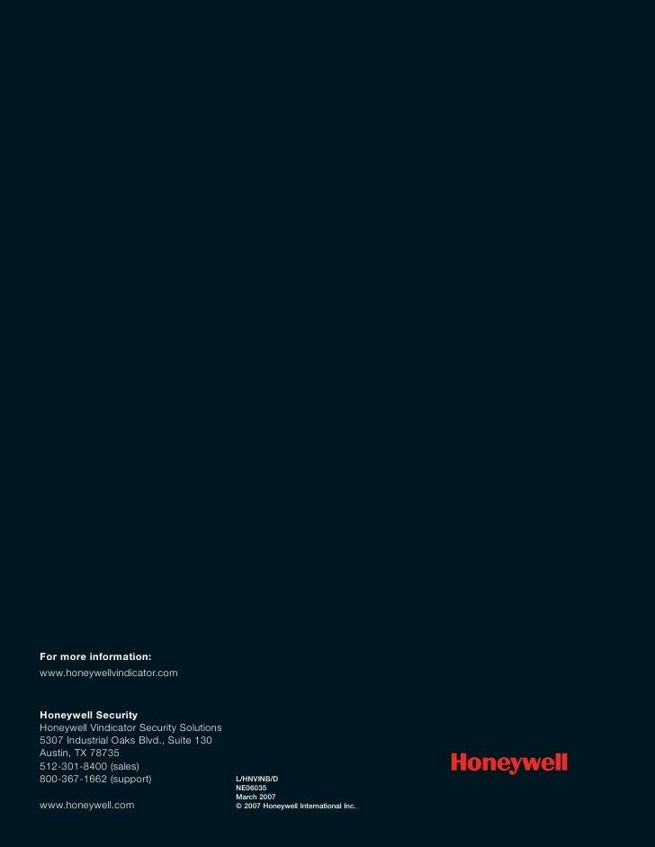 Honeywell Vindicator® Corporate Brochure