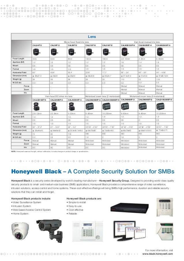 honeywell vista cctv catalog. Black Bedroom Furniture Sets. Home Design Ideas
