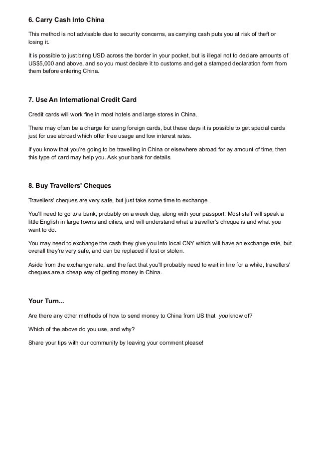 How to send money to China from US (8 tips)