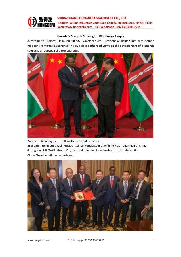 Hongdefa group is growing up with kenya people
