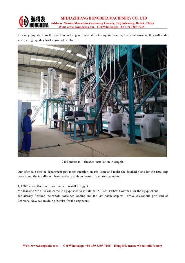 Hongdefa maize wheat flour mill installation plan Slide 2