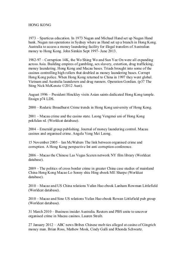 HONG KONG 1973 – Sparticus education. In 1973 Nugan and Michael Hand set up Nugan Hand bank. Nugan ran operations in Sydne...
