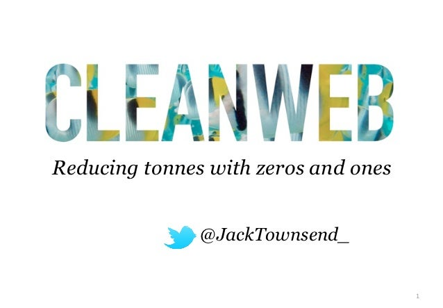 Reducing tonnes with zeros and ones             • @JackTownsend_                                      1