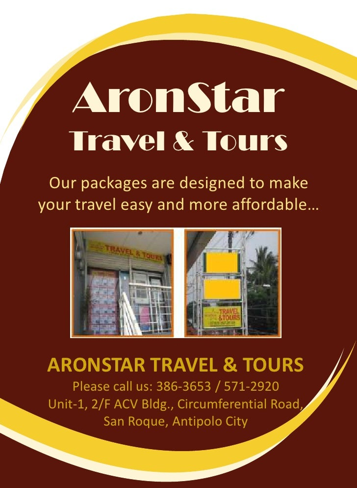 AronStarTravel & Tours<br />Our packages are designed to make your travel easy and more affordable…<br />ARONSTAR TRAVEL &...