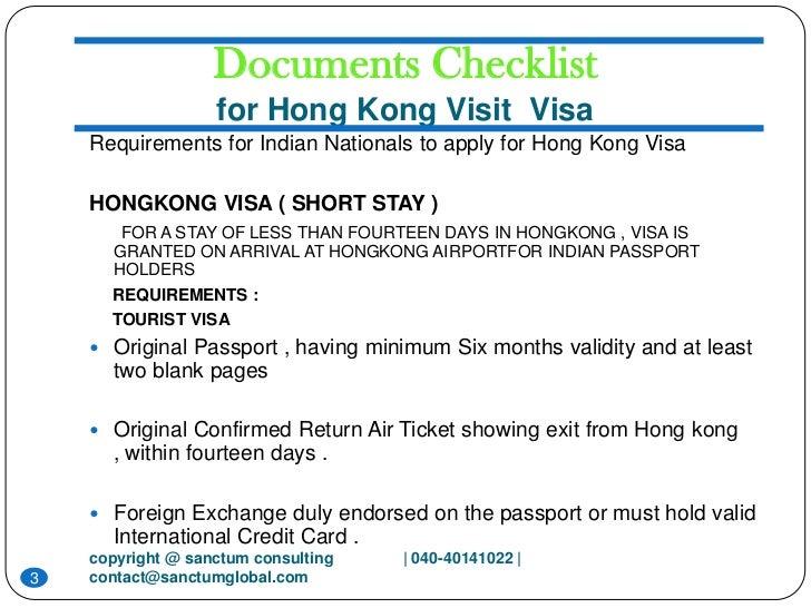 Hongkong visit visa sanctum consulting 3 documents checklist for hong kong visit visa requirements spiritdancerdesigns Choice Image