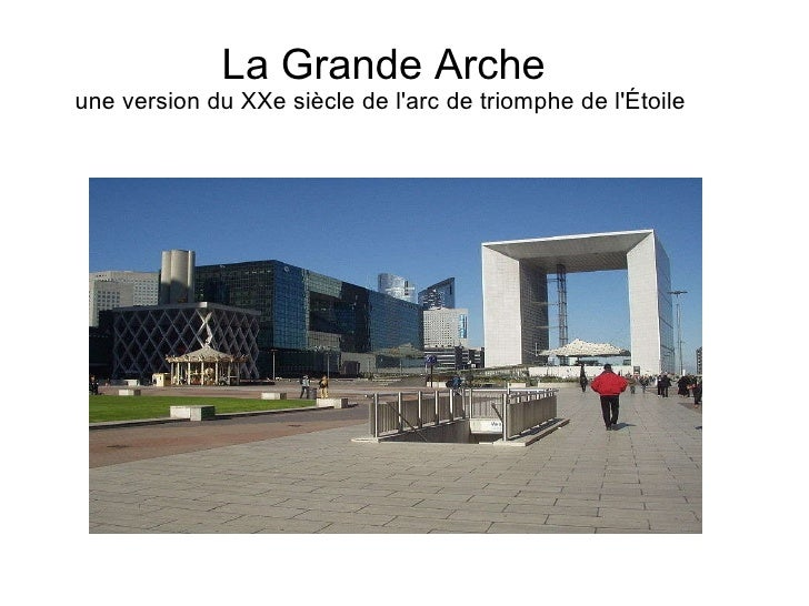 La Grande Arche une version du XXe siècle de l'arc de triomphe de l'Étoile