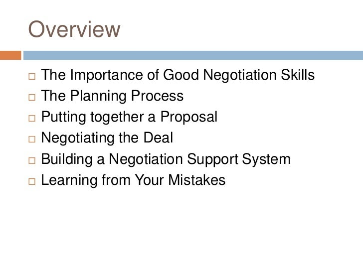 How to Plan a Negotiation Meeting