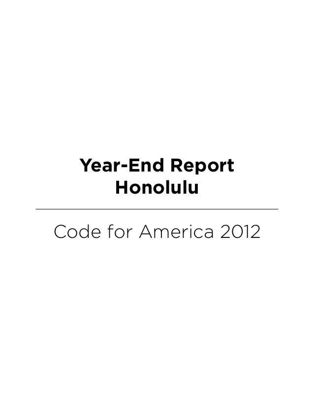 Year-End ReportHonoluluCode for America 2012