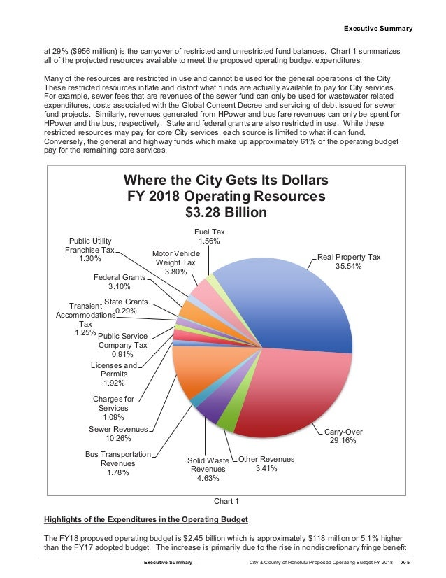 Honolulu Budget Executive Summary