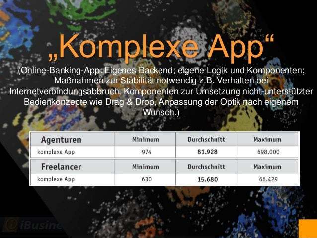 "@JoachimGraf ""Komplexe App""(Online-Banking-App: Eigenes Backend; eigene Logik und Komponenten; Maßnahmen zur Stabilität no..."