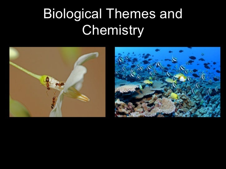 Biological Themes and      Chemistry