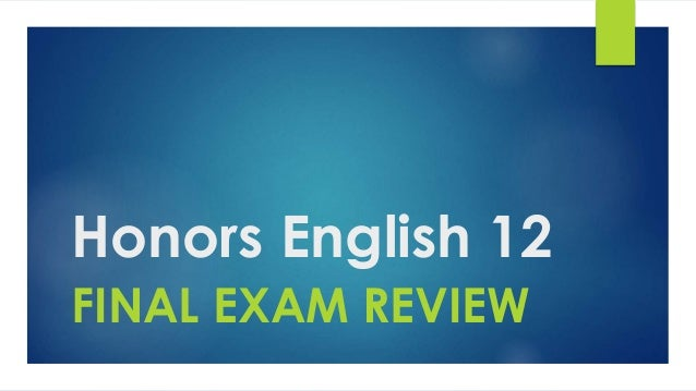 English 1 final exam review Term paper Sample