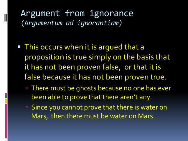 honors iii argumentative fallacies