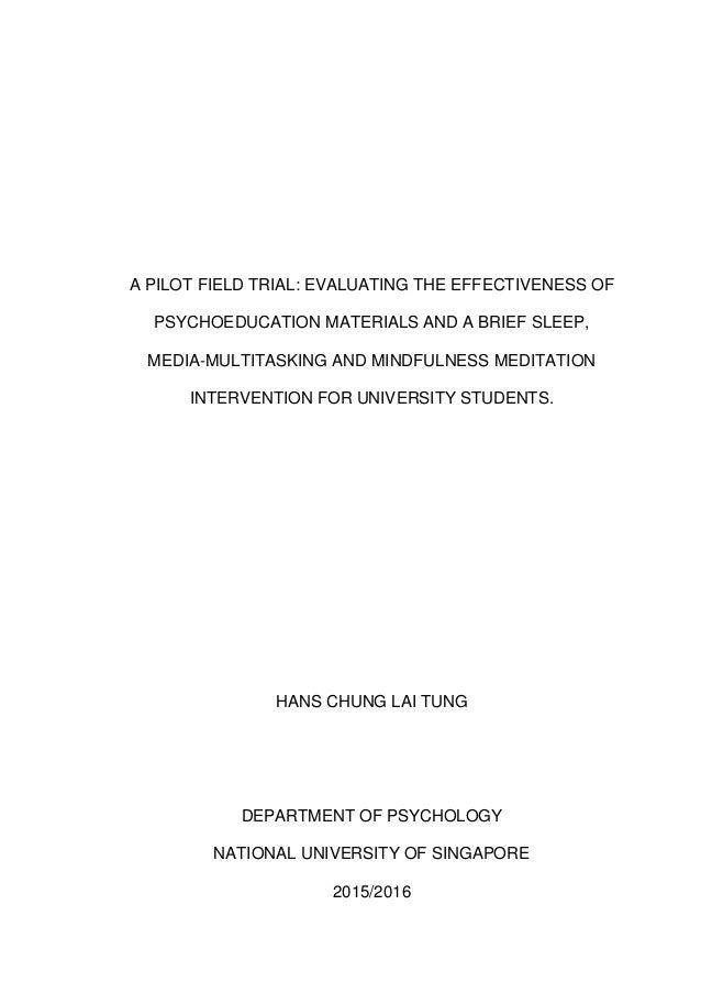 A pilot field trial: Evaluating the effectiveness of psychoeducation …