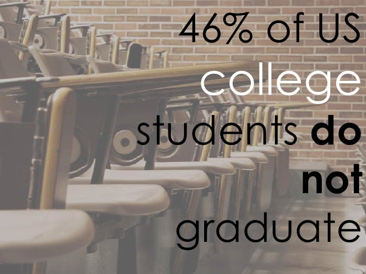 46% of US   collegestudents do        not  graduate