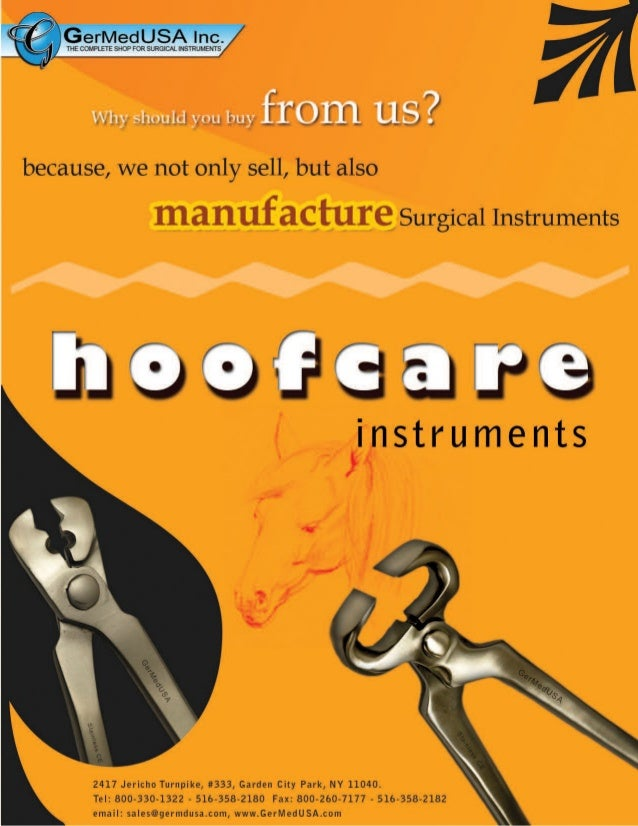 Hoofcare surgical instruments