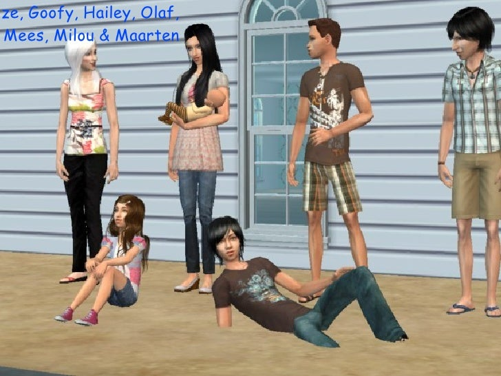 <ul>Lize, Goofy, Hailey, Olaf, Mees, Milou & Maarten </ul>