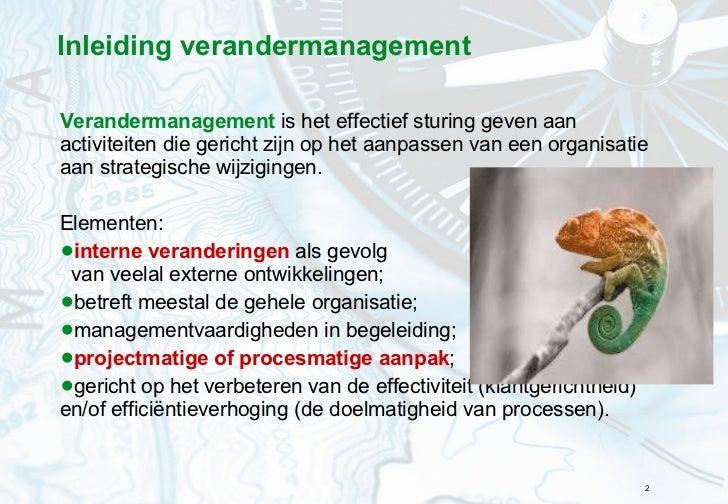 Hoofdstuk 6 Veranderstrategie Slide 2