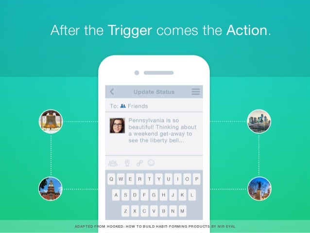 After the Trigger comes the Action. ADAPTED FROM HOOKED: HOW TO BUILD HABIT-FORMING PRODUCTS BY NIR EYAL