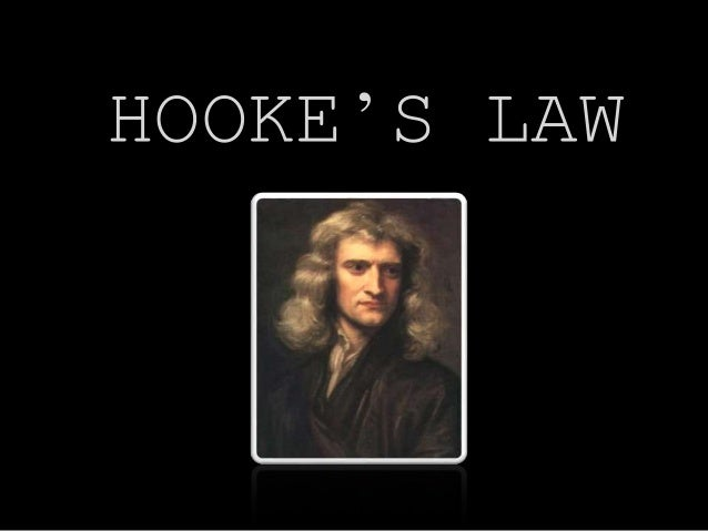 hookes law Explanation of hooke's law for springs  hooke's law states that the force  acting on a spring is directly proportional to its displacement from its equilibrium.