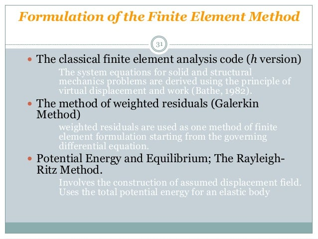Hookes law and finite element analysis for Finite element methode