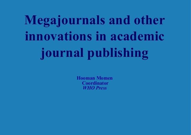 Academic publishing and journal