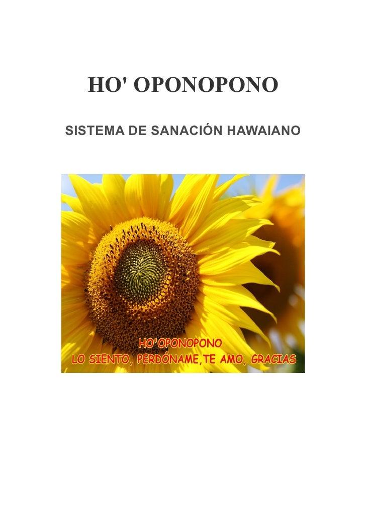 HO OPONOPONOSISTEMA DE SANACIÓN HAWAIANO