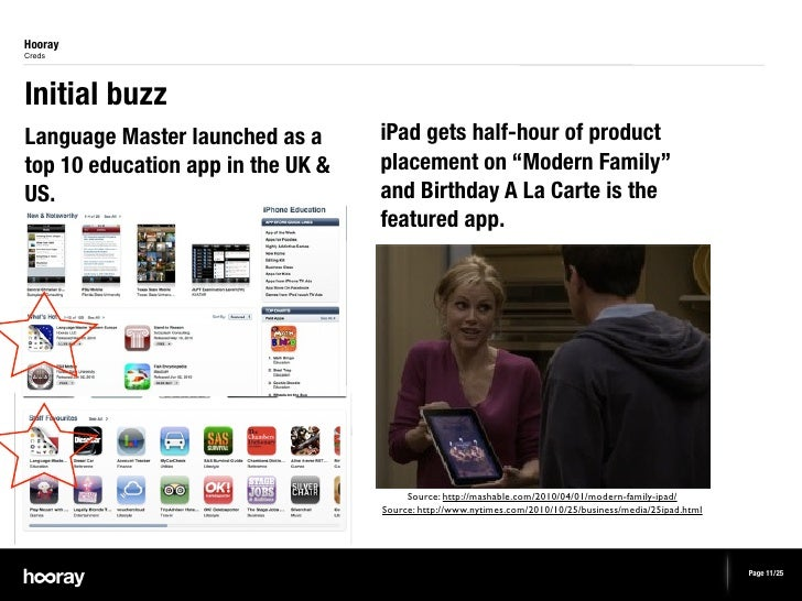 HoorayCredsInitial buzzLanguage Master launched as a      iPad gets half-hour of producttop 10 education app in the UK &  ...
