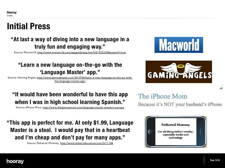 """HoorayCredsInitial Press   """"At last a way of diving into a new language in a              truly fun and engaging way.""""    ..."""