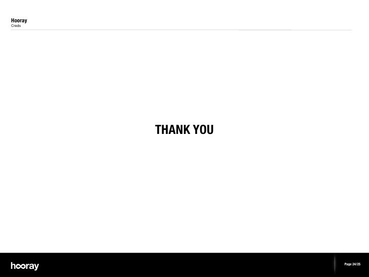 HoorayCreds         THANK YOU                     Page 24/25