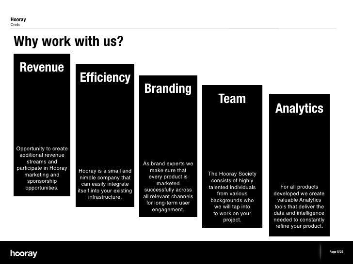 HoorayCreds Why work with us?    Revenue                           Efficiency                                              ...