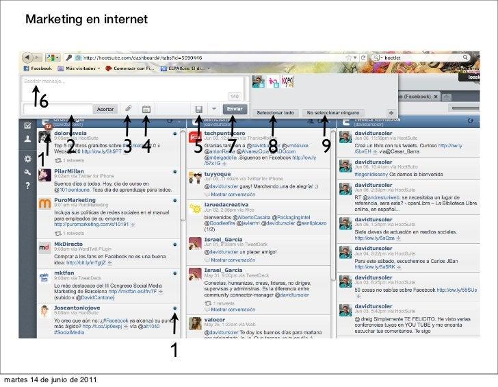 Marketing en internet         6                 2           3 4       5   7   8   9         1                             ...