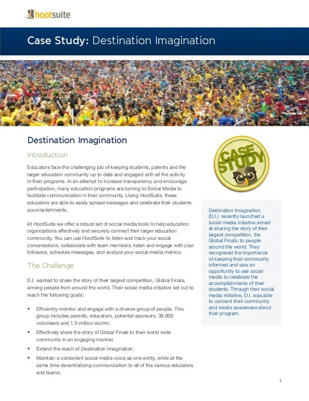 Innovative Education with HootSuite – A Case Study with Destination Imagination