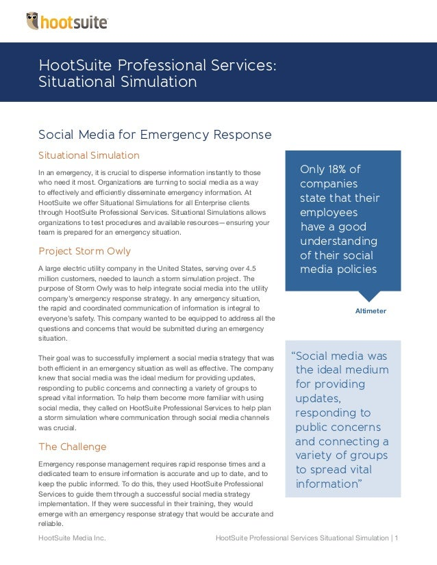 HootSuite Professional Services: Situational Simulation