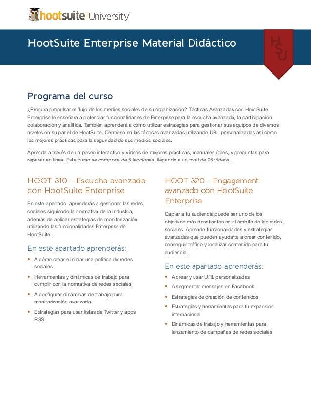 HootSuite Enterprise Material Didáctico