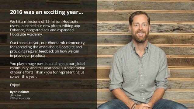 Hootsuite Ambassador Yearbook 2016 Slide 2