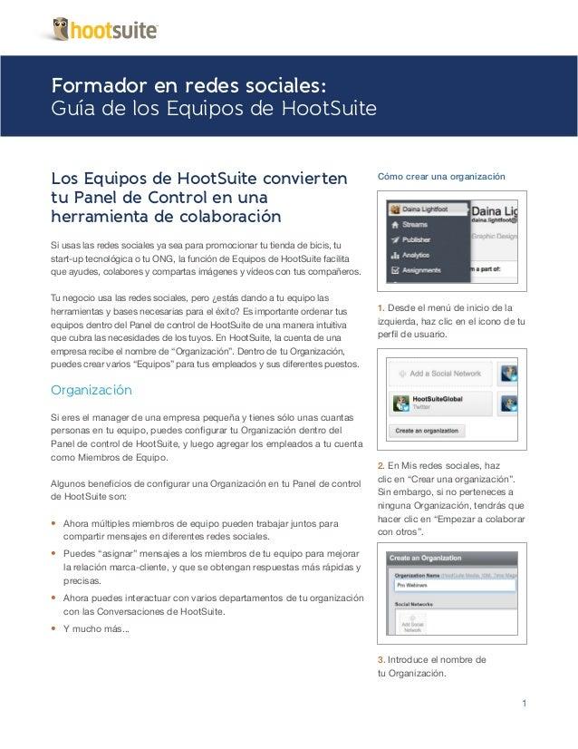 Social Media Coach Guía Equipos en Español