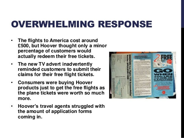 hoover flights fiasco Part of a bbc documentary highlighting business mistakes and marketing disasters this clip is all about the free flights promotion that ended up costing.