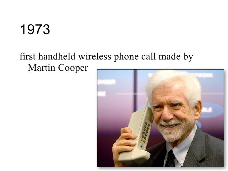 Was call phone made first when cell the The First
