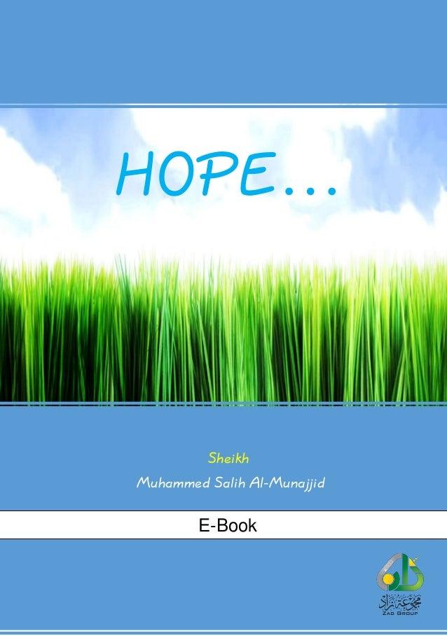 HOPE… Sheikh Muhammed Salih Al-Munajjid E-Book